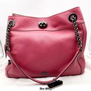 NWT Coach Edie Handbag DK Rouge in pebble leather